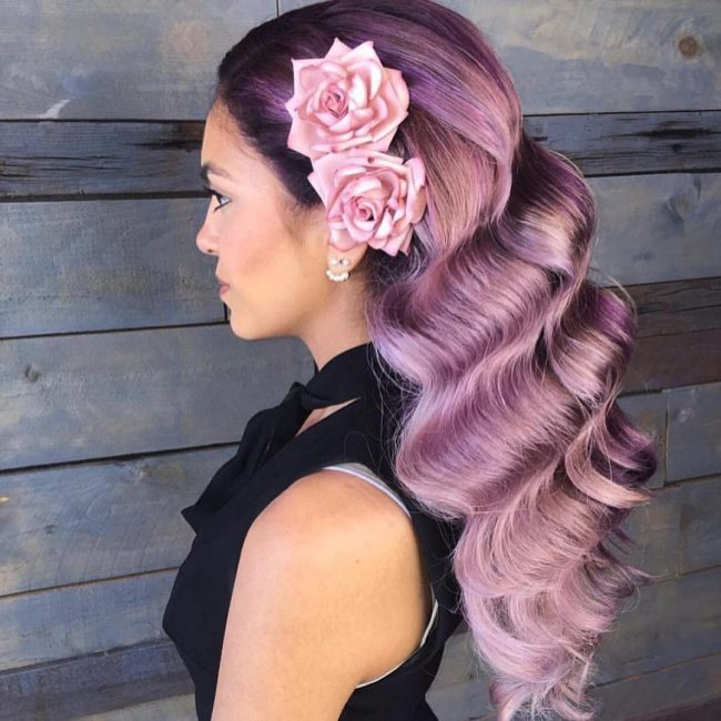 Gorgeous Smoky Pink Purple