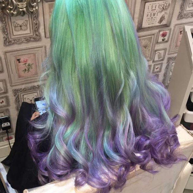 Green to Purple Ombre