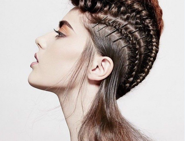 Haute Couture Braided Mohawk