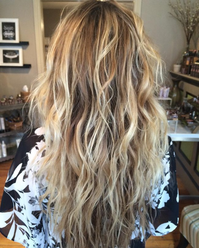 50 modern perm styles spiral curly wave even straight 6 highlighted beach waves urmus Images
