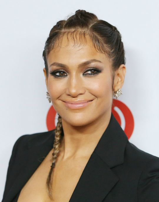 JLo's Smooth Braids on Wavy Hair