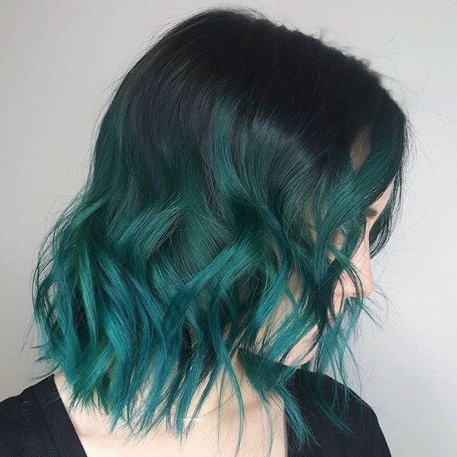 30 Fresh Green Hair Ideas Mint Lime Emerald Pastel Dark