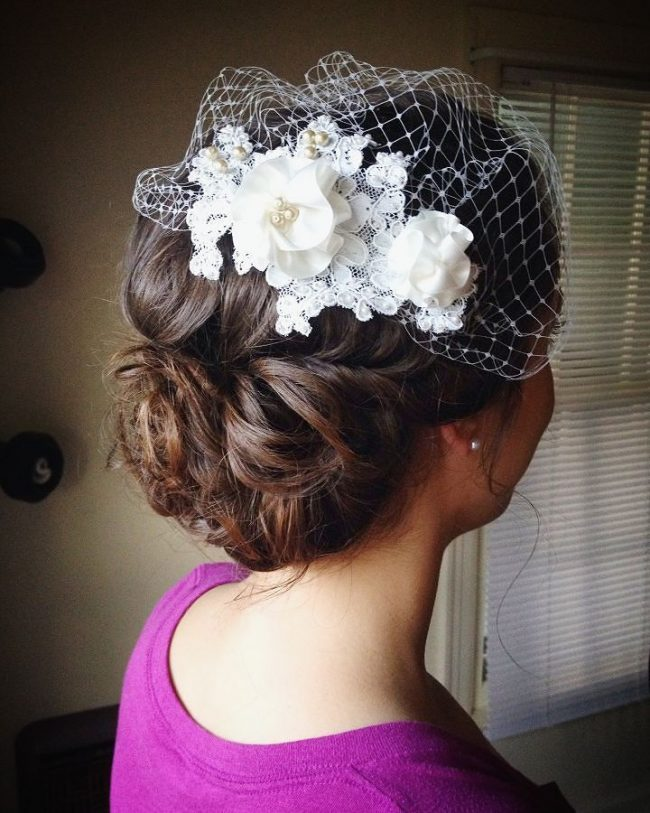 Knotted Curly Updo
