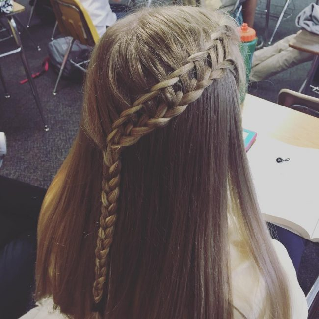 Ladder Braid with Waterfall Twist