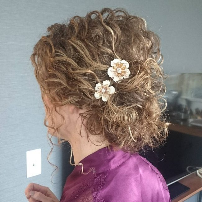 Light Curly Updo
