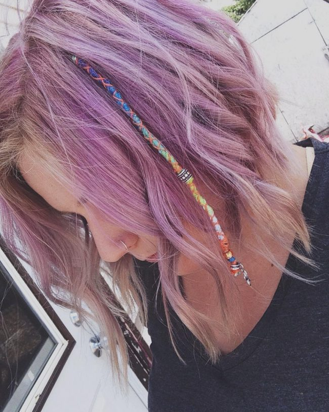 Lilac Ombre with Dread Wrap
