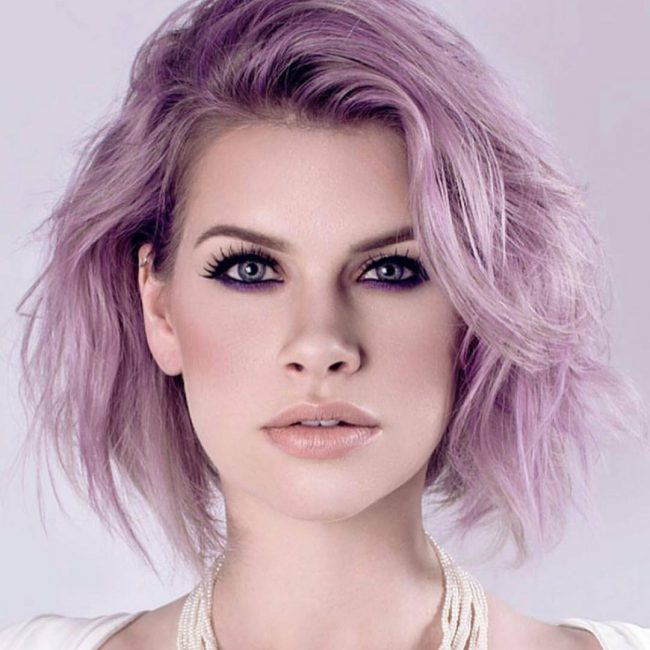Lilac and Pink for Edgy Editorial Style