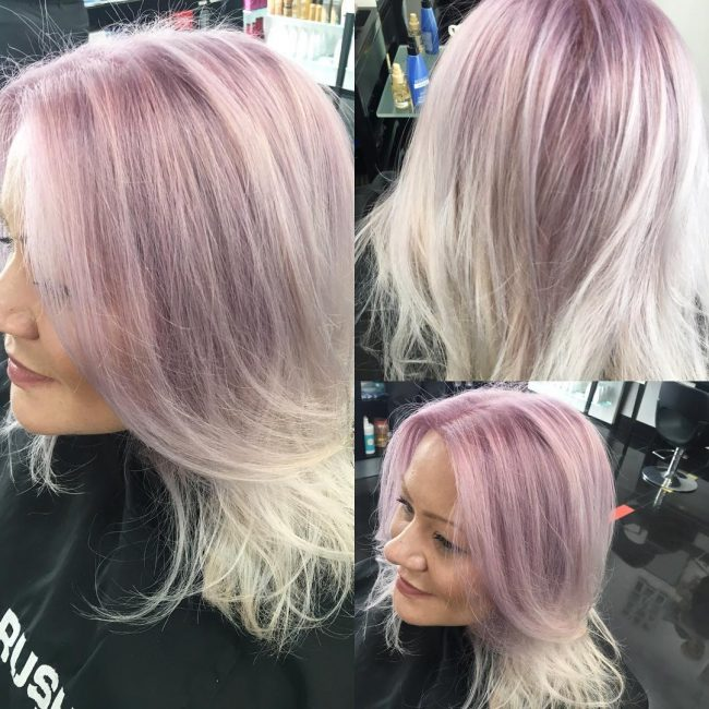 Lilac to Silver Ombre