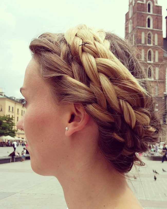 Long Layered Crown Braid