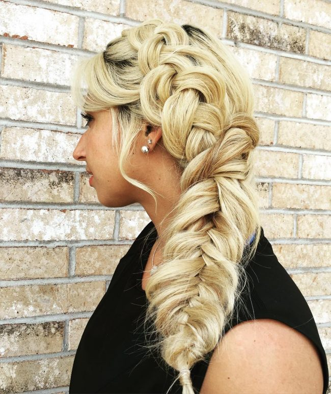 Loose and Playful Side Braid Hairstyle