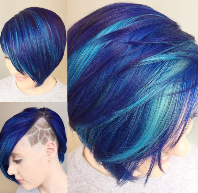Magical Blue Mermaid Bangs