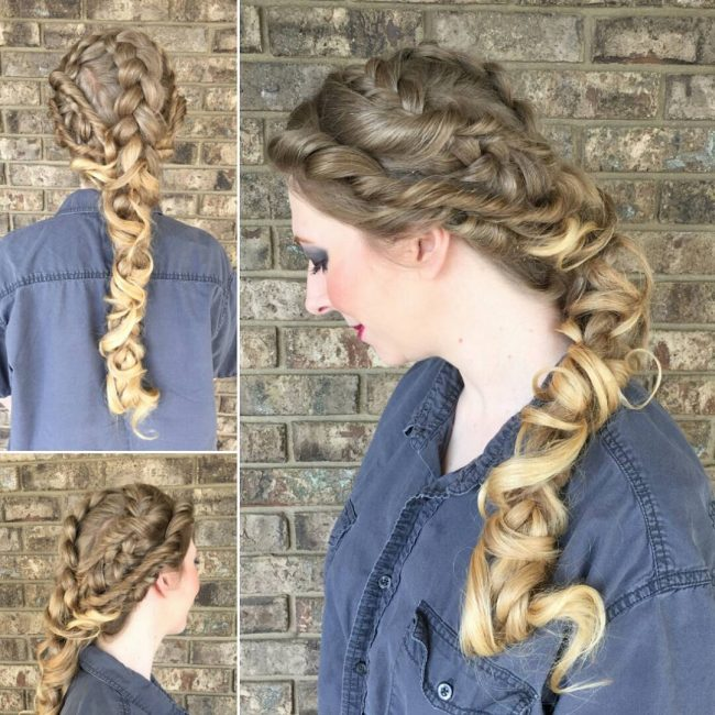 Messy Summer Braids
