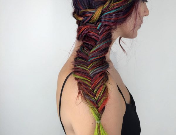 Multicolored Side Fishtail