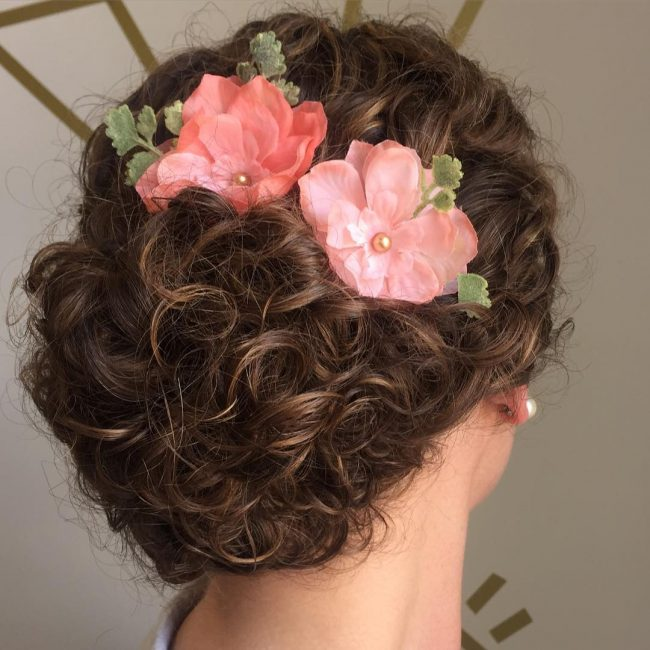 Natural Curls Updo