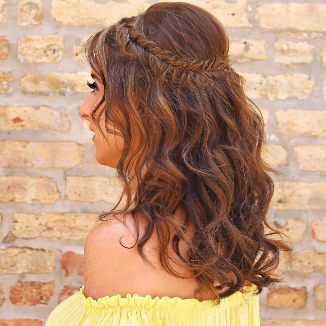 Neat Braided Wavy Blowout