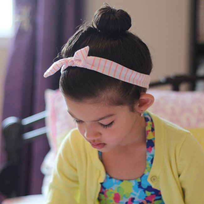 Neat Top Knot and Headband