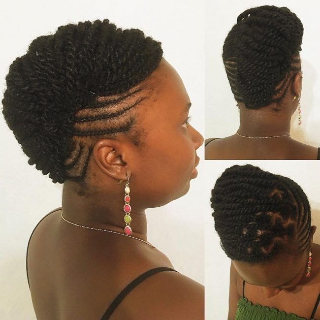 Neatly Braided Updo