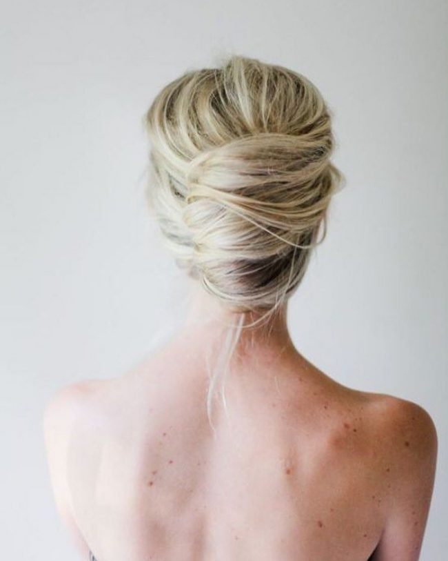 Perfect Blonde French Twist