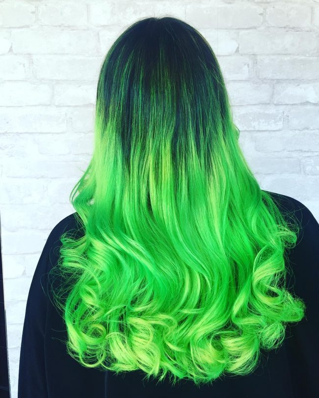 black hair with green ombre wwwimgkidcom the image