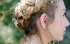 Pretty Braided Crown with Flowers
