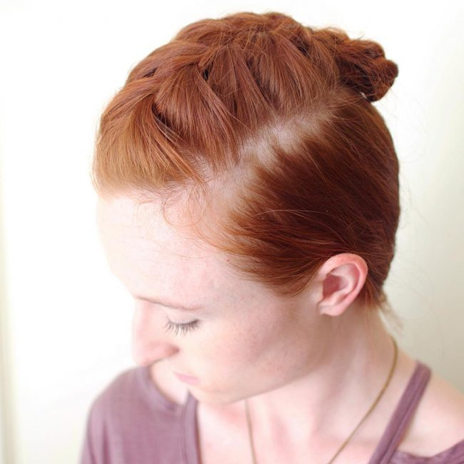 Pretty Viking Style Twist for a Redhead