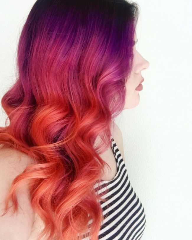 Purple Orange Unicorn Hair