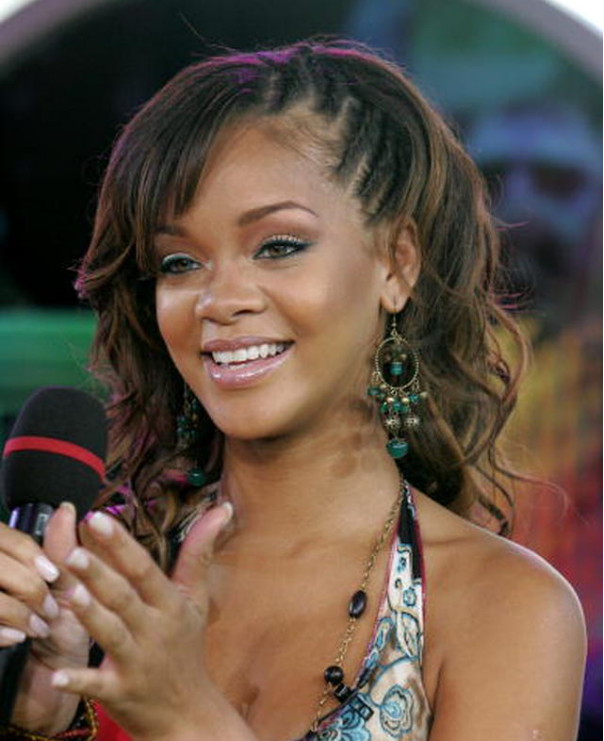 Rihanna's Impeccable Side Plaits
