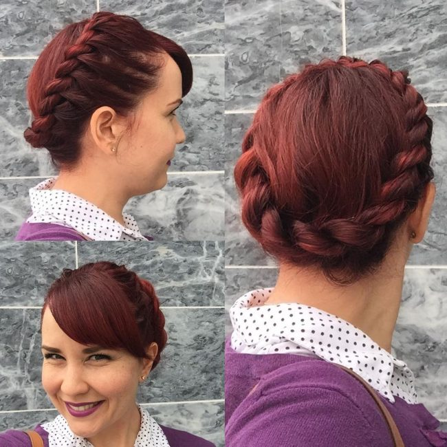 Rope Braid Crown and a Fringe