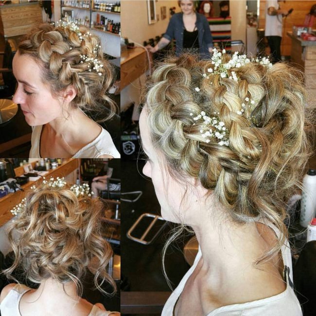 Rugged Braided Look with Flowers