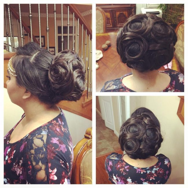 Sectioned Updo Style