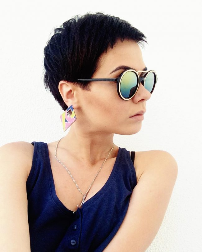 Short and Edgy Cropped Pixie