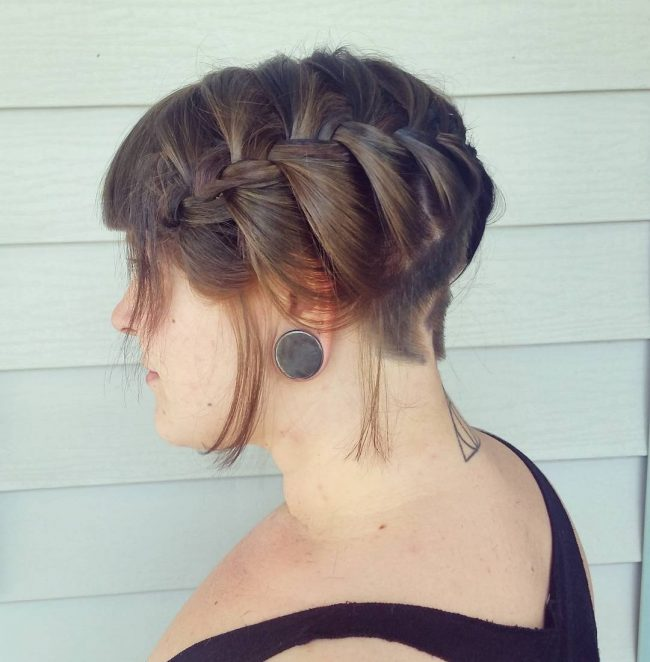 Side Braid with Undercut
