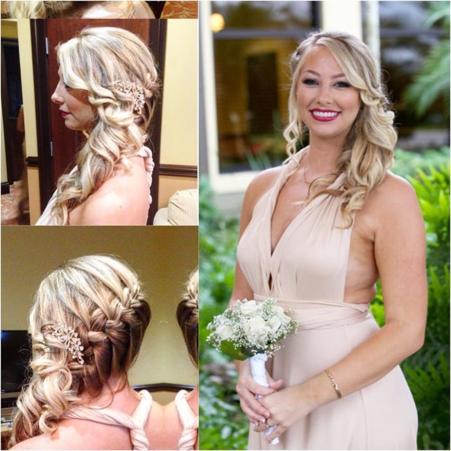 Side Braided Curls