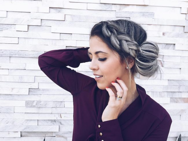 Side Style with Big Bun