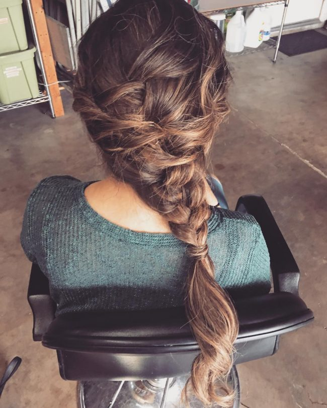 Side Swept Elsa Braid