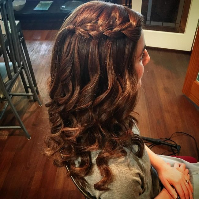 Side Waterfall Braid