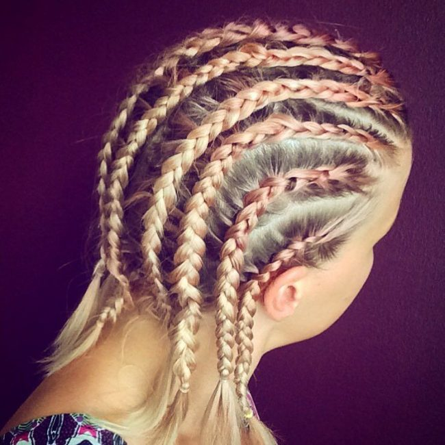 Simple Rows with Fishtails