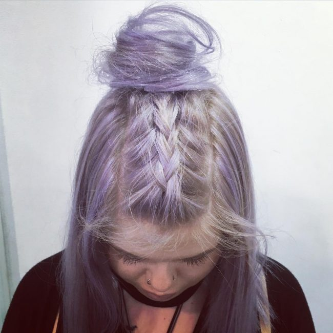 Sleek Lavender And Silver