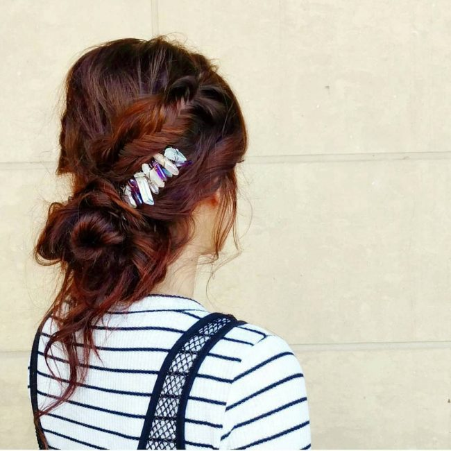Stitched Fishtail and Low Bun