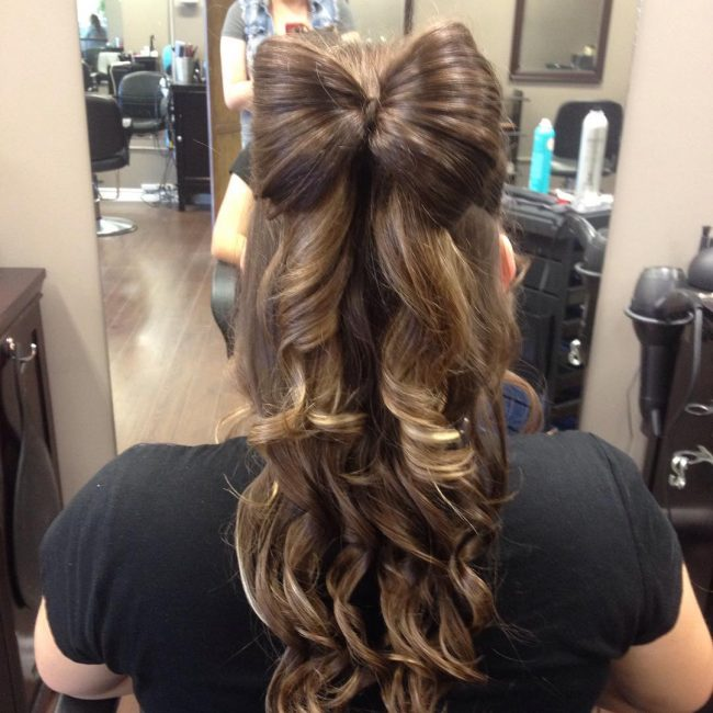 Stylish Boho Curls with a Bow