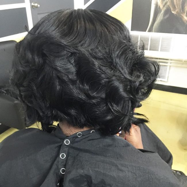 Stylish Wavy Bob
