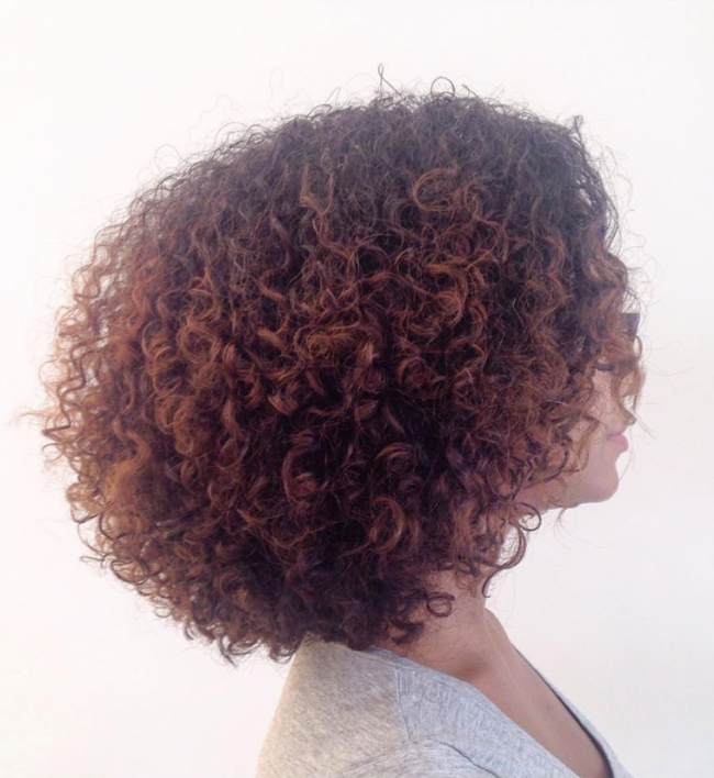 Tight Curly Bob Hairstyle for Black Women