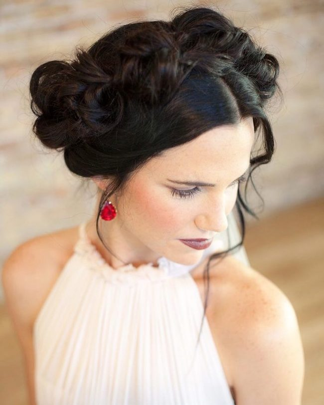 Trendy and Messy Crown Updo