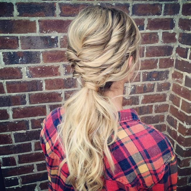 Twisted Boho Pony for Prom
