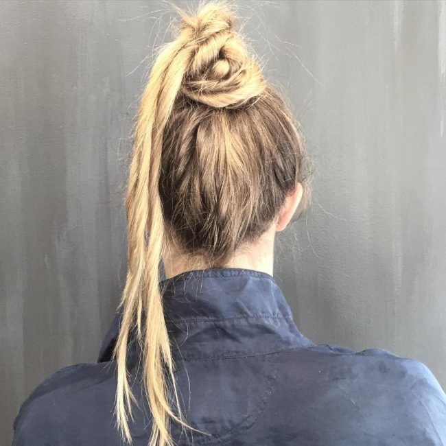 Twisted Funky Top Knot