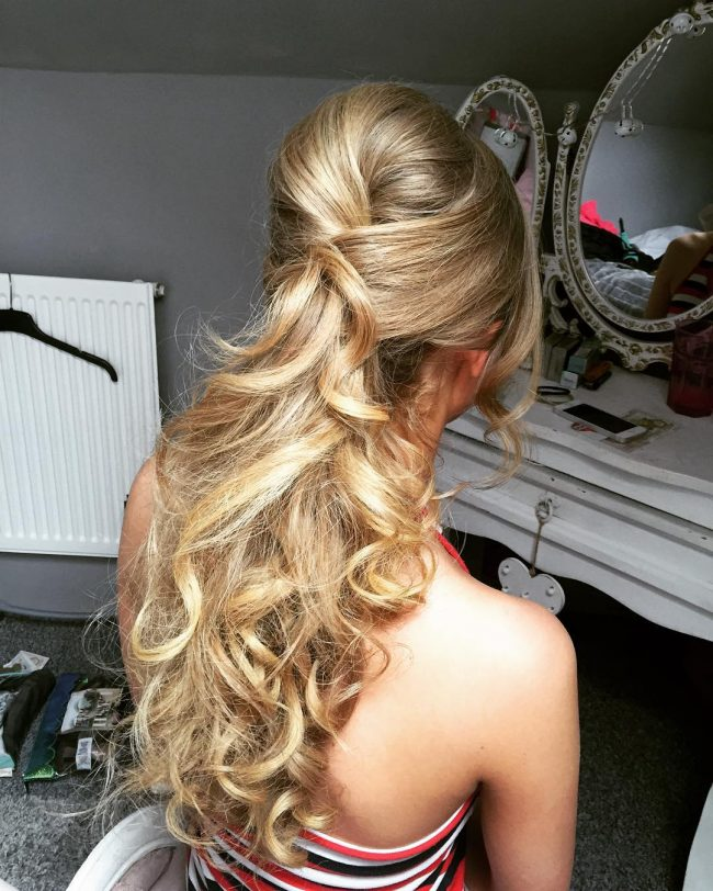 Twisted and Curly Prom Updo