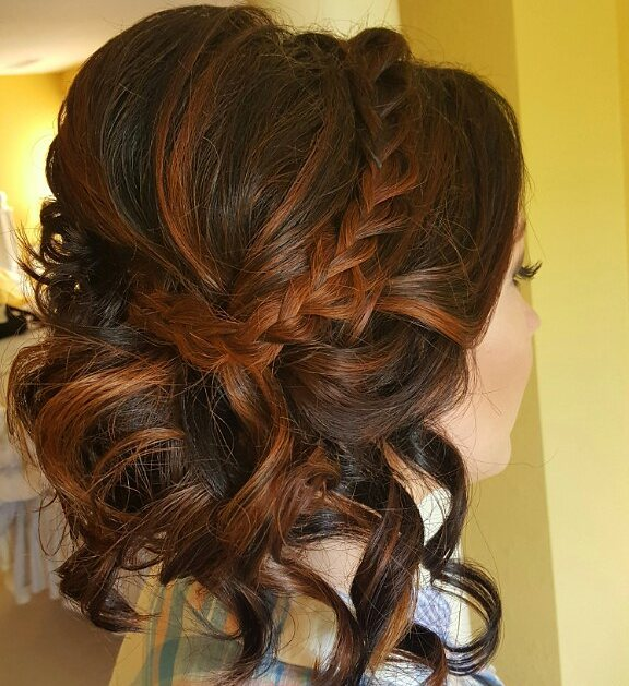 Updo with Braid Accent
