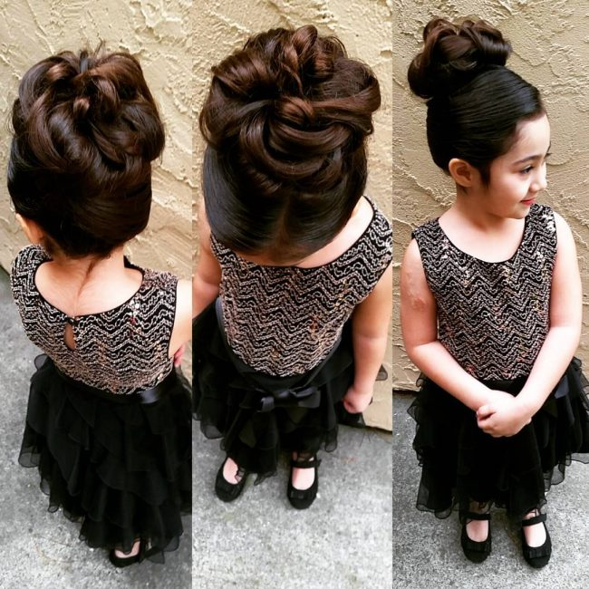 Woven and Curly Top Bun