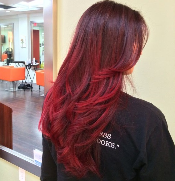 8dd749c78b6 30 Incredible Ideas for Red Ombre Hair - Best in (2019)