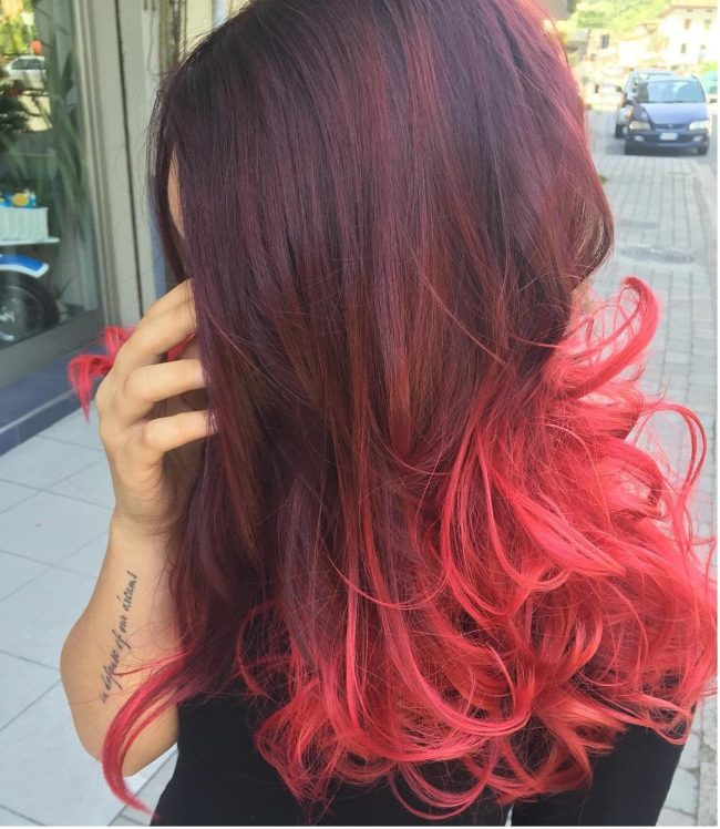 30 Incredible Ideas For Red Ombre Hair Best In 2017